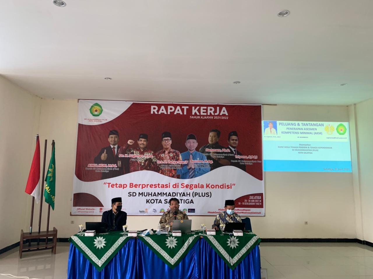 rapat kerja sd muhammadiyah plus salatiga tahun ajaran 2020/2021